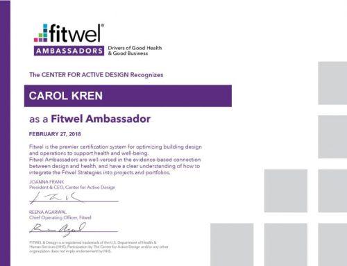 Congratulations Carol Kren, Fitwel Ambassador!