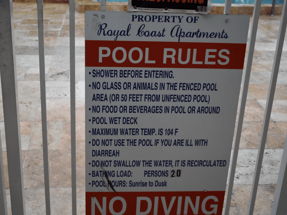Royal Coast - Pool Rules